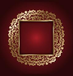 elegant gold frame 2807 vector image vector image