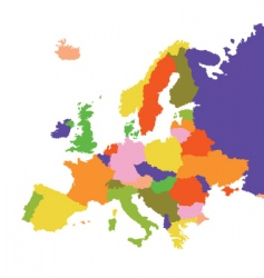 Europe vector image vector image
