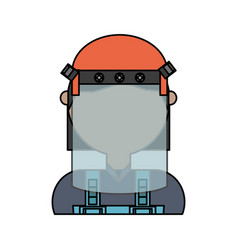 Face mask safety vector