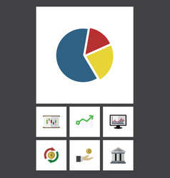 Flat icon incoming set of growth hand with coin vector