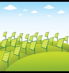 Green energy source solar panel background vector