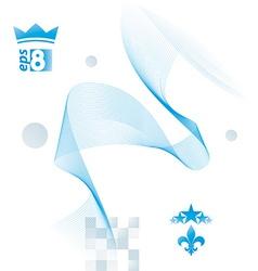 Light blue soft composition 3d wavy decorative vector image vector image