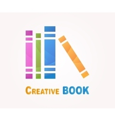 Logo design element book read library vector