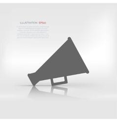 Megaphone loudspeaker icon Loud-hailer symbol vector image