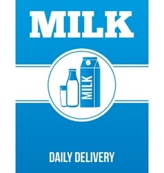 Milk delivery advertising poster vector image vector image