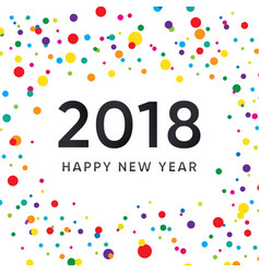 New year design with colorful background vector