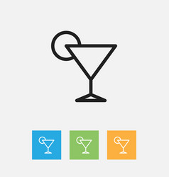 Of cook symbol on cocktail vector