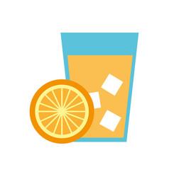 Orange tropical fruit beverage vector