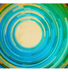 Retro blue swirl shape abstract background vector image vector image