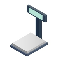 Scales for weighing isometric 3d icon vector
