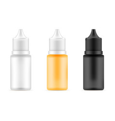 set of bottles with different colors vector image vector image