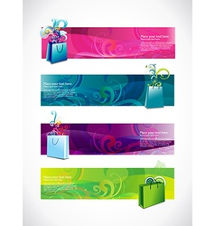 Shopping headers set of four vector