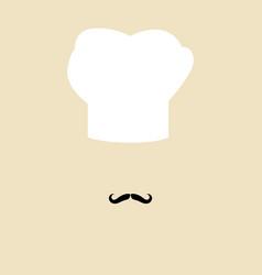 Simple chef avatar vector