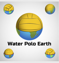 water polo earth logo for the team and the cup vector image vector image