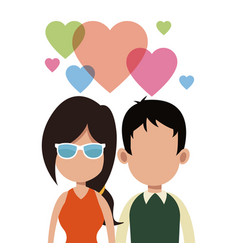 Young couple love romantic vector