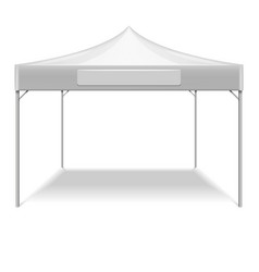 Realistic white outdoor folding party tent vector image