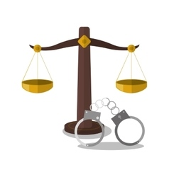 Balance of law and justice design vector