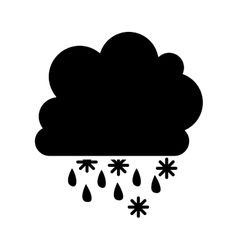 Cloud and rain icon image vector