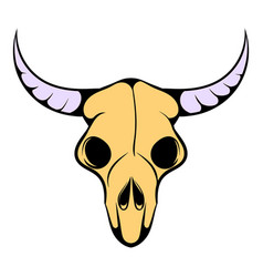 Buffalo skull icon icon cartoon vector