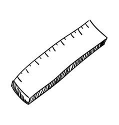 School ruler draw vector