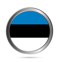 Estonia flag button vector
