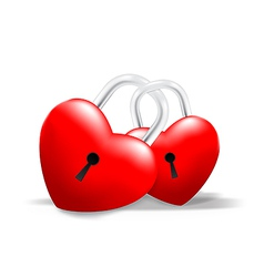 Grossy locked together heart vector