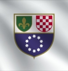Federation of bosnia and herzegovina flag vector
