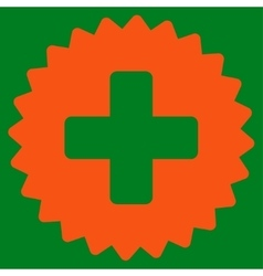 Health care stamp icon vector