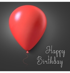 Happy birthday gift card poster with vector