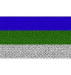 Flags komi on denim texture vector