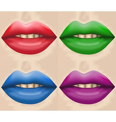 big lips vector image