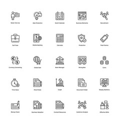 business and finance line icon 17 vector image vector image