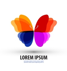 Butterfly logo icon sign emblem template vector