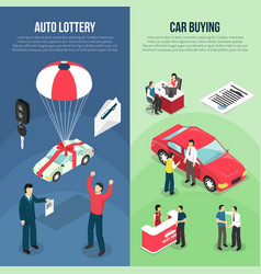 car dealership leasing vertical banner set vector image