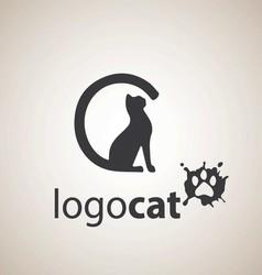 cat logo 1 vector image