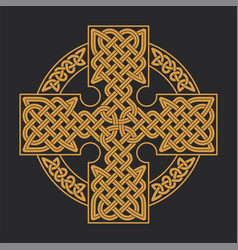 Celtic cross ethnic ornament geometric vector