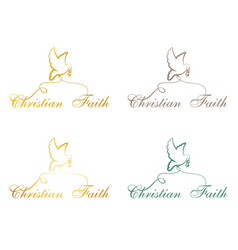 christian faith pigeon vector image vector image