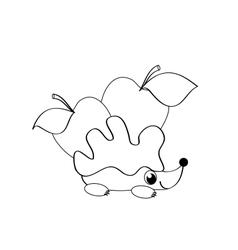 coloting with hedgehog vector image