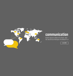 communication concept banner web infographic vector image