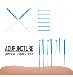 creative of acupuncture vector image