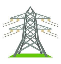 Electric tower icon cartoon style vector