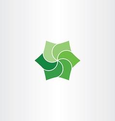 green leaves clip art icon eco symbol vector image vector image