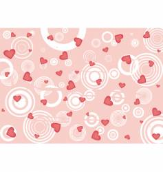 grunge red hearts background vector image
