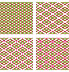 holiday plaids vector image vector image