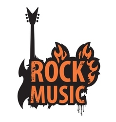 inscription of rock music vector image