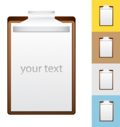 notepad illustration vector image vector image