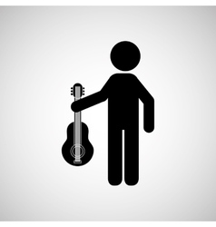 person playing instrument design vector image vector image