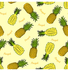 pineapple seamless vector image