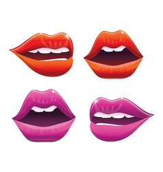 sexy lips collection- vector image