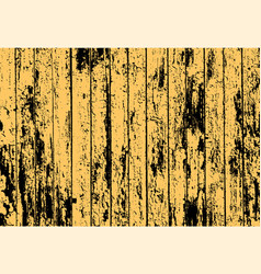 Texture of realistic yellow old painted wooden vector